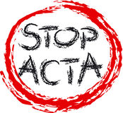 STOP ACTA Stock Images