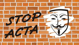 Stop acta Royalty Free Stock Photography