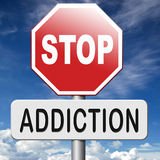 Stop addiction stock photography