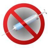 Stop addiction narcotics Royalty Free Stock Image