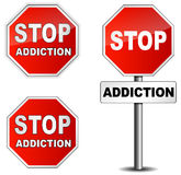 Stop addiction sign Royalty Free Stock Image