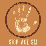 Stop ageism Royalty Free Stock Photo