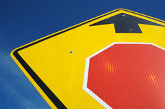 Stop Ahead Road Sign Royalty Free Stock Images