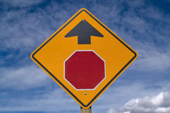 Stop Ahead Sign Royalty Free Stock Photo