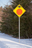 Stop Ahead Stock Photography
