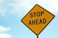 Stop Ahead Sign Royalty Free Stock Image