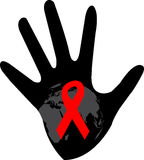 Stop aids. Illustration of stop h i v symbol on white background Stock Images