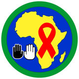 Stop Aids in Africa Stock Photography