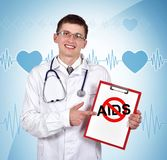 Stop aids Stock Images