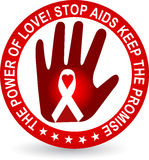 Stop aids logo Stock Photos