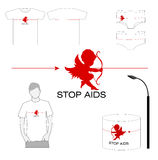 Stop AIDS project. And images on advertising medium Stock Photo