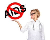 Stop aids sign Royalty Free Stock Images