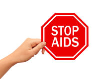 Stop AIDS sign Stock Image