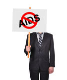 Stop aids symbol Royalty Free Stock Images