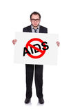 Stop aids symbol Royalty Free Stock Image