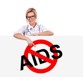 Stop aids symbol Royalty Free Stock Photography