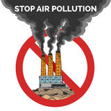 Stop air pollution Royalty Free Stock Images