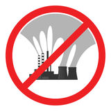 Stop air pollution sign. Vector illustration Royalty Free Stock Photo