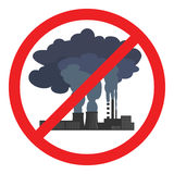 Stop air pollution sign. Vector illustration Royalty Free Stock Images