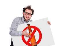 Stop alcohol Royalty Free Stock Photography