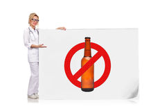 Stop alcohol Stock Images