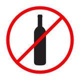 Stop alcohol red round sing Stock Photo