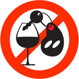 Stop Alcohol sign Stock Photos