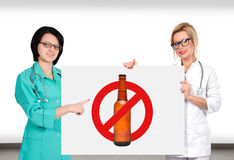 Stop alcohol sign Royalty Free Stock Image