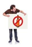 Stop alcohol symbol Stock Image