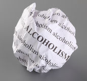 Stop Alcoholism Royalty Free Stock Photography