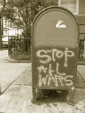 STOP ALL WARS sign Stock Photography