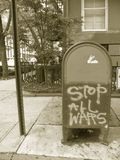 STOP ALL WARS sign Royalty Free Stock Image