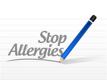 stop allergies message sign illustration Stock Images