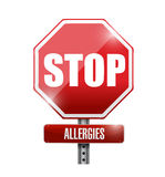 Stop allergies sign illustration design Royalty Free Stock Photos
