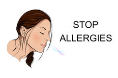 Stop allergies. smell. Stock Photos