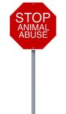 Stop Animal Abuse Stock Photography
