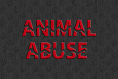 Stop animal abuse Stock Photos