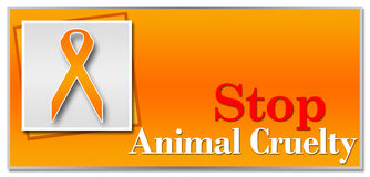 Stop Animal Cruelty Orange Stock Photo