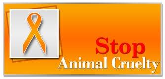 Stop Animal Cruelty Orange Stock Photo