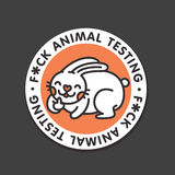 Stop animal testing vector sticker illustration Stock Photo