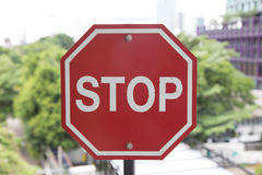 Stop Arret Sign Red Royalty Free Stock Image