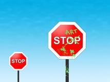 Stop-art Stock Image