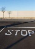 STOP on the Asphalt Stock Photo