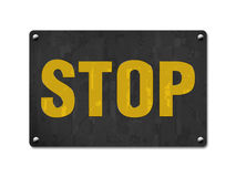 Stop, background, abstract, illustration, layout, metal board Royalty Free Stock Images