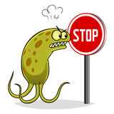 Stop bacteria Royalty Free Stock Image