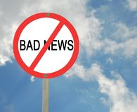 Stop bad news Royalty Free Stock Image