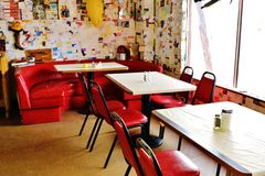 A stop at the Bagdad Cafe, on 66 historic road Stock Photography