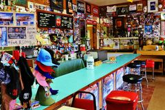 A stop at the Bagdad Cafe, on 66 historic road royalty free stock image