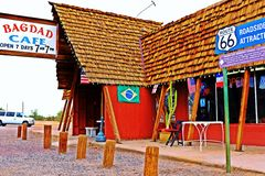 A stop at the Bagdad Cafe, on 66 historic road,California,America royalty free stock images