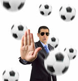 Stop ball Royalty Free Stock Image